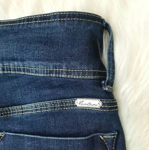 KanCan Jeans - Kancan 3 Button Waist Dark Wash Skinny Jeans